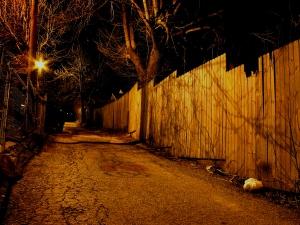 Main Street at Midnight, Combs, KY