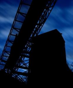 The Old Blue Diamond Mine at Twilight