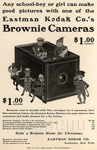 Advertisement For The Original Brownie. Designed As A Simple Box Camera ...